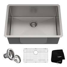 kitchen sink for 30 inch base cabinet kraus standart pro 26 inch 16 undermount single bowl stainless steel kitchen sink
