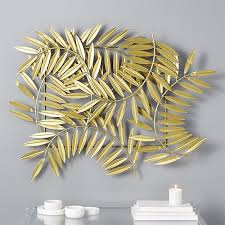 Gold Wall Decor by Ceres Gold Leaves Wall Decor Cb2