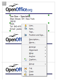 how to make business cards in openoffice quick business cards in