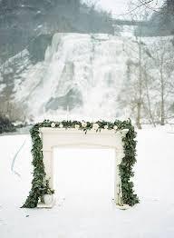 wedding arch garland 30 winter wedding arches and altars to get inspired crazyforus