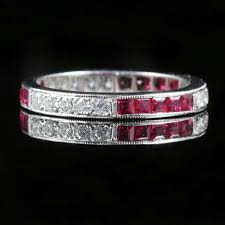 ruby eternity ring ruby diamond eternity ring 18ct white gold cut diamonds