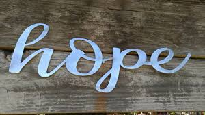 Wooden Words Home Decor Hope Sign Farmhouse Decor Hope Wall Art Rustic Signs Hope
