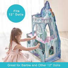 House And Furniture Amazon Com Teamson Kids Ice Castle Wooden Doll House With 6 Pcs