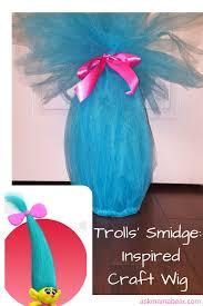 big troll hair diy u2013 easy to make costume piece costumes