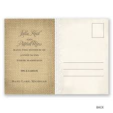 just married wedding announcement postcard invitations by dawn