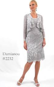 damianou floral short knit lace mother of the bride dress 2232