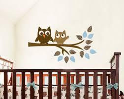 Owl Pictures For Kids Room by Owls Wall Decal For Boys Modern Wall Decals Reusable Fabric