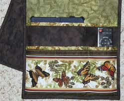 Armchair Organizers Quilted Armchair Caddy Bedside Caddy Remote Holder Butterflies