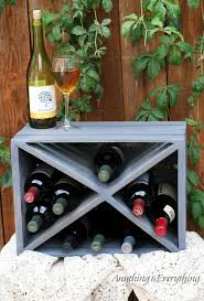 Wine Crate Coffee Table Diy by Wood Crate Wine Rackanything U0026 Everything