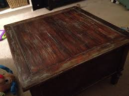 Coffee Table Granite Furniture Legend Star Distressed Coffee Table With Special Accent