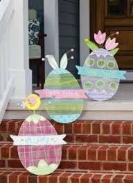 Wooden Outdoor Easter Decorations by Wooden Easter Decorations For The Outside Wooden Easter Yard