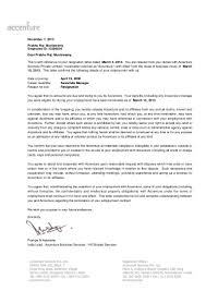 Executive Letter Of Resignation Accenture Relieving Letter
