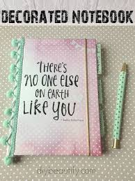 Decorated Notebooks with Labels — Crafthubs