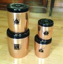 western kitchen canister sets tin canister set pillsbury s best flour domino sugar maxwell
