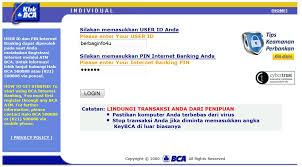 Klikbca Individual Cara Mengganti Pin Banking Bca Di Klik Bca
