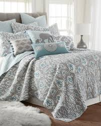 ikat medallion print quilt print quilts bedding bed u0026 bath stein