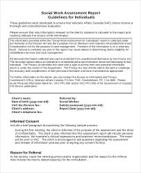 Example Social Work Resume by Psychosocial Assessment Example 9 Comprehensive Geriatric