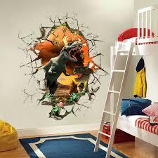 stickers d oration chambre b 3d dinosaure stickers muraux stickers pour chambres d enfants