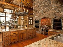kitchen fantastic rustic kitchen with textured wood floor and