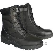s army boots uk black leather side zip army patrol combat boots tactical cadet