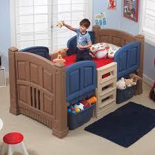 step2 twin low loft bed with storage u0026 reviews wayfair