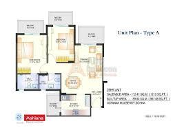 Sq Mt Sq Ft by Ashiana Mulberry Floor Plan Floorplan In