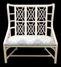 taylor burke home kings grant bench with quadrille fabric chairish