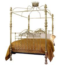 four post bed all brass crown and canopy four poster bed mkb8 at 1stdibs