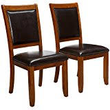 amazon com brown chairs kitchen u0026 dining room furniture home