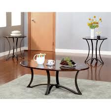 coaster furniture 3 piece modern coffee table set hayneedle