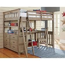 Loft Bed With Desk For Kids Amazon Com Ne Kids Highlands Full Loft Bed With Desk In Driftwood