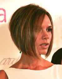 short hair with length at the nape of the neck victoria beckham longer in the front bob with a stacked nape