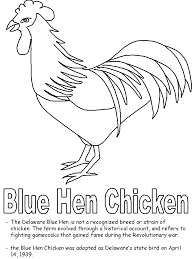 Delaware birds images Blue hen chicken coloring page gif