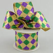 mardi gras ribbon 2 5 mardi gras harlequin check ribbon 10 yards rm9634