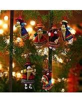 savings on ceramic ornaments choir set of 7 peru