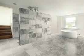 Contemporary Tile Bathroom - different types of tile bathroom materials vizdecor