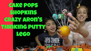 shopkins lego crazy aaron u0027s thinking putty diy halloween cupcakes