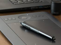 Gambar Laptop kreatif fotografi pena tablet grafis sketsa