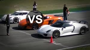 koenigsegg vs lamborghini aventador mclaren p1 vs porsche 918 spyder vs koenigsegg agera r