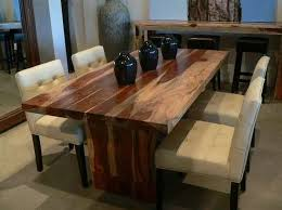wood dining room tables unique decor amish reclaimed old wood