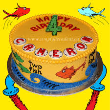 dr seuss one fish two fish red fish blue fish birthday cake