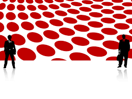dotted red abstract market templates for powerpoint presentations