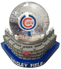 chicago cubs stadium w ater globe ornament by forever collectibles