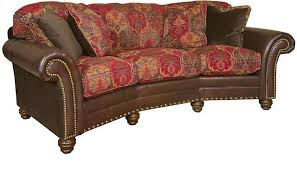 Leather Conversation Sofa King Hickory