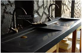black stone bathroom sink 63 double black granite trough sink bathroom basins stone folege shadow