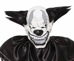 scary clown mask wide smile rainbow hair icp evil creepy
