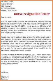 8 sample resignation letter nurse adjustment letter