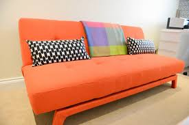 Orange Sofa Bed Fancy Orange Sofa Bed Yoko Sofa Bed In Saffron Orange Made