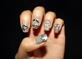 gray nail polish designs image collections nail art designs