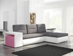 canapé angle blanc canapé angle transformable en lit avec pouf coloré